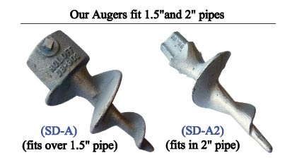 Marine Dock Anchoring Augers