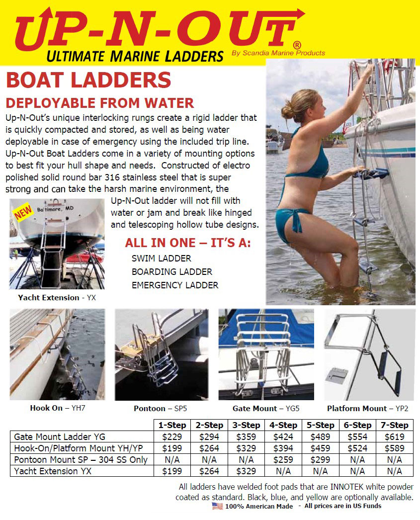 Up N Out Boat Ladders In British Columbia Alberta Canada